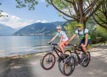 Radfahren am Zeller See