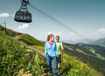 hiking tour in the austrian mountains