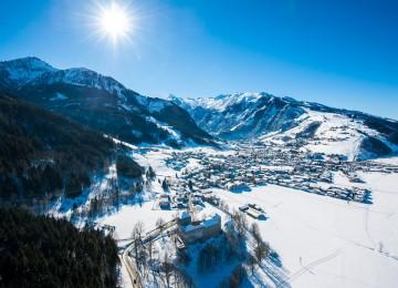 Winter landscape of Kaprun